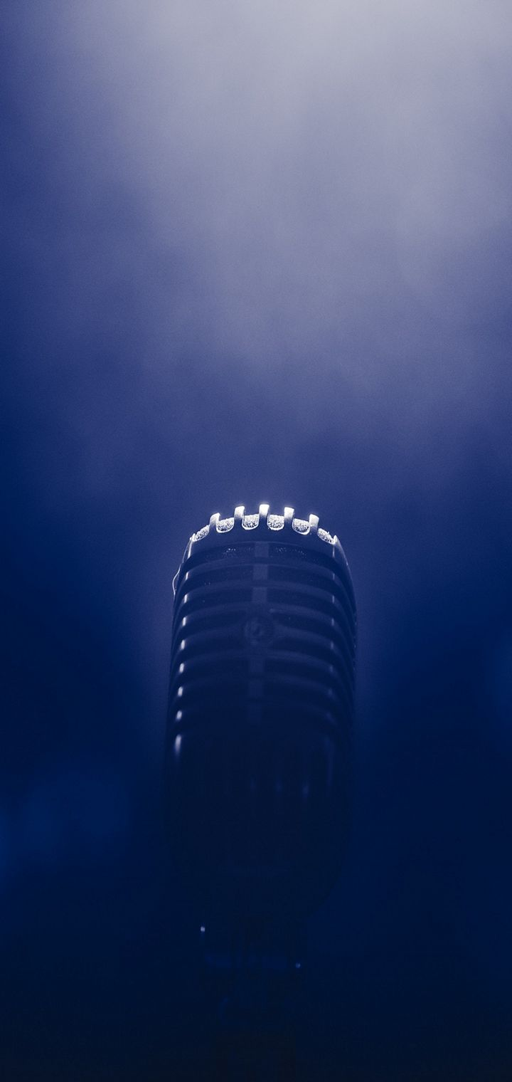 Microphone Smoke Blackout Wallpaper 720x1520