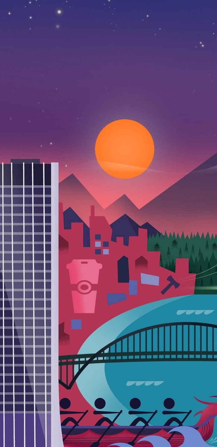 Minimalism City Z9 Wallpaper 720x1480