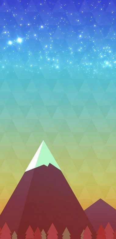 Minimalism Mountain Peak Wallpaper 720x1480 380x781