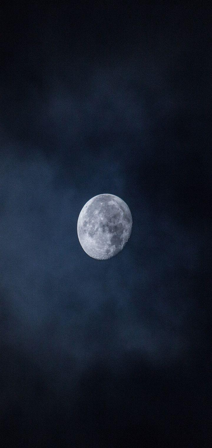 Moon Sky Night Space Wallpaper 720x1520