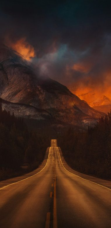 Mountain Nature Night Road T2 Wallpaper 720x1480 380x781