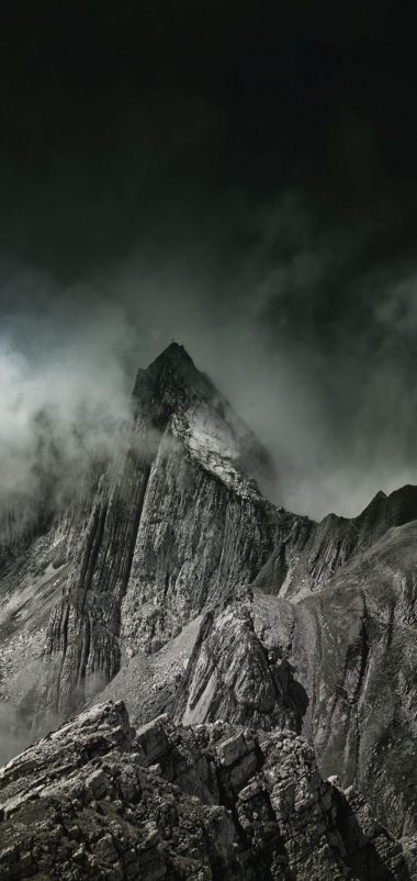 Mountains Fog Summit Wallpaper 720x1520 380x802