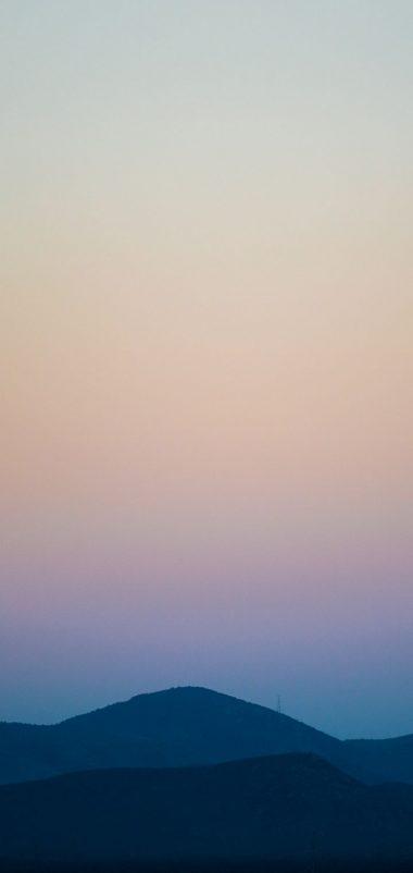 Mountains Sky Horizon Sunset Wallpaper 720x1520 380x802