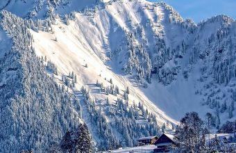 Mountains Snow Top Sky Wallpaper 720x1520 340x220