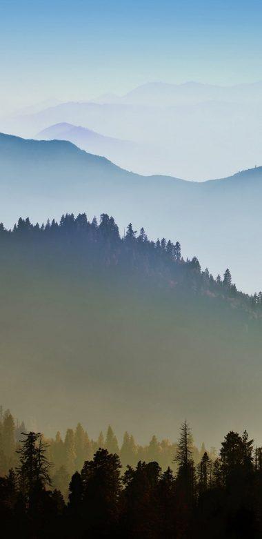 Nature Mountain Range Fog Sunrise Ultra HD Wallpaper 720x1480 380x781