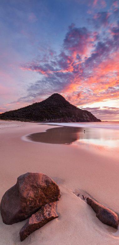 Nature Water Beach Rock Beautiful Sky 3c Wallpaper 720x1480 380x781