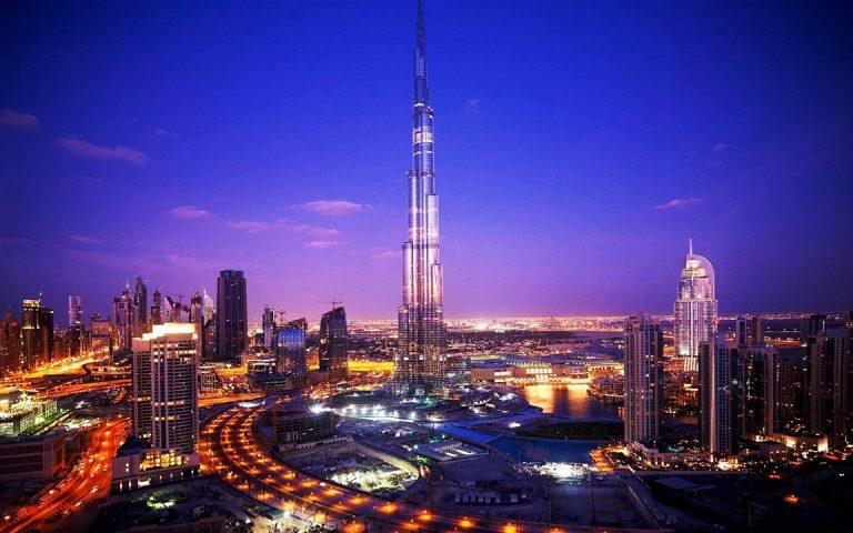Night Burj Khalifa Tower Dubai Wallpaper