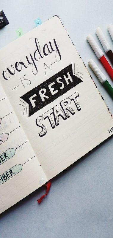 Notebook Inscription Markers Wallpaper 720x1520 380x802