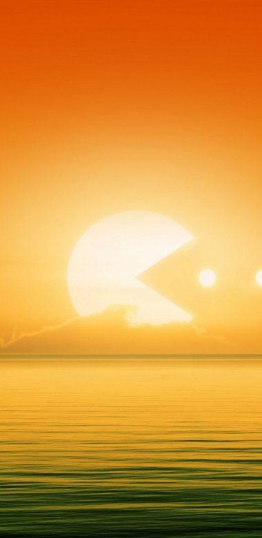 Pacman Sun E0 Wallpaper 720x1480 380x781