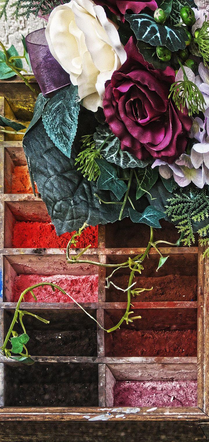 Paints Pigments Bouquet Wallpaper 720x1520