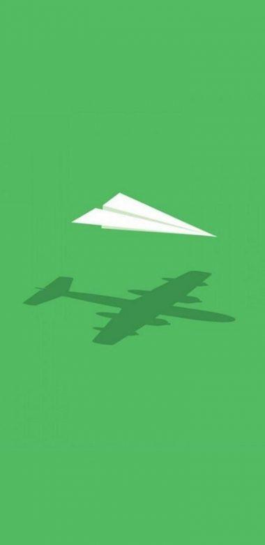 Paper Plane Minimalism Wide Wallpaper 720x1480 380x781