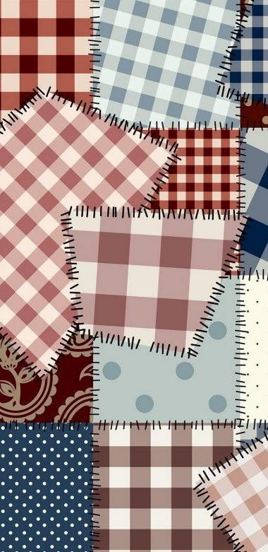 Patchwork Vector Wallpaper 720x1480 380x781