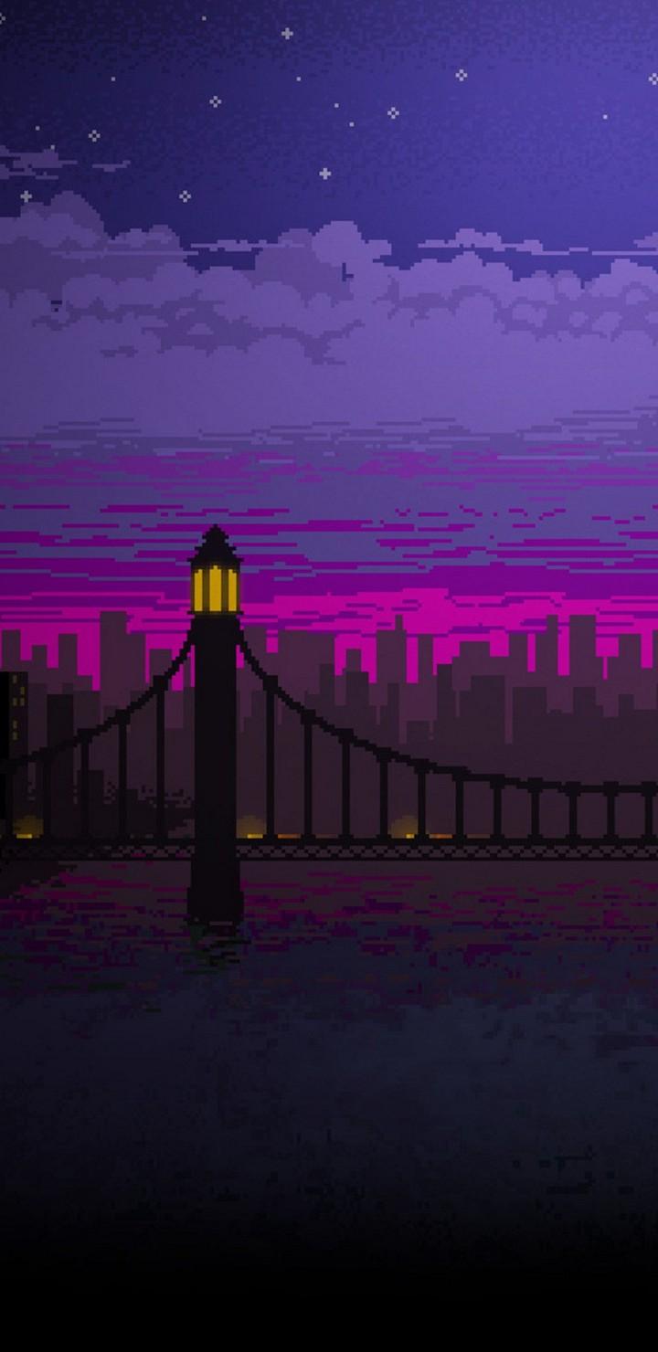 Beautiful Wallpaper Night Art - Pixel-Art-Bridge-Night-Cc-Wallpaper-720x1480  Pic.jpg