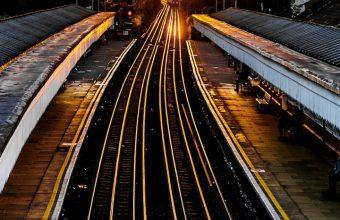 Railroad Train Sunset Wallpaper 720x1520 340x220