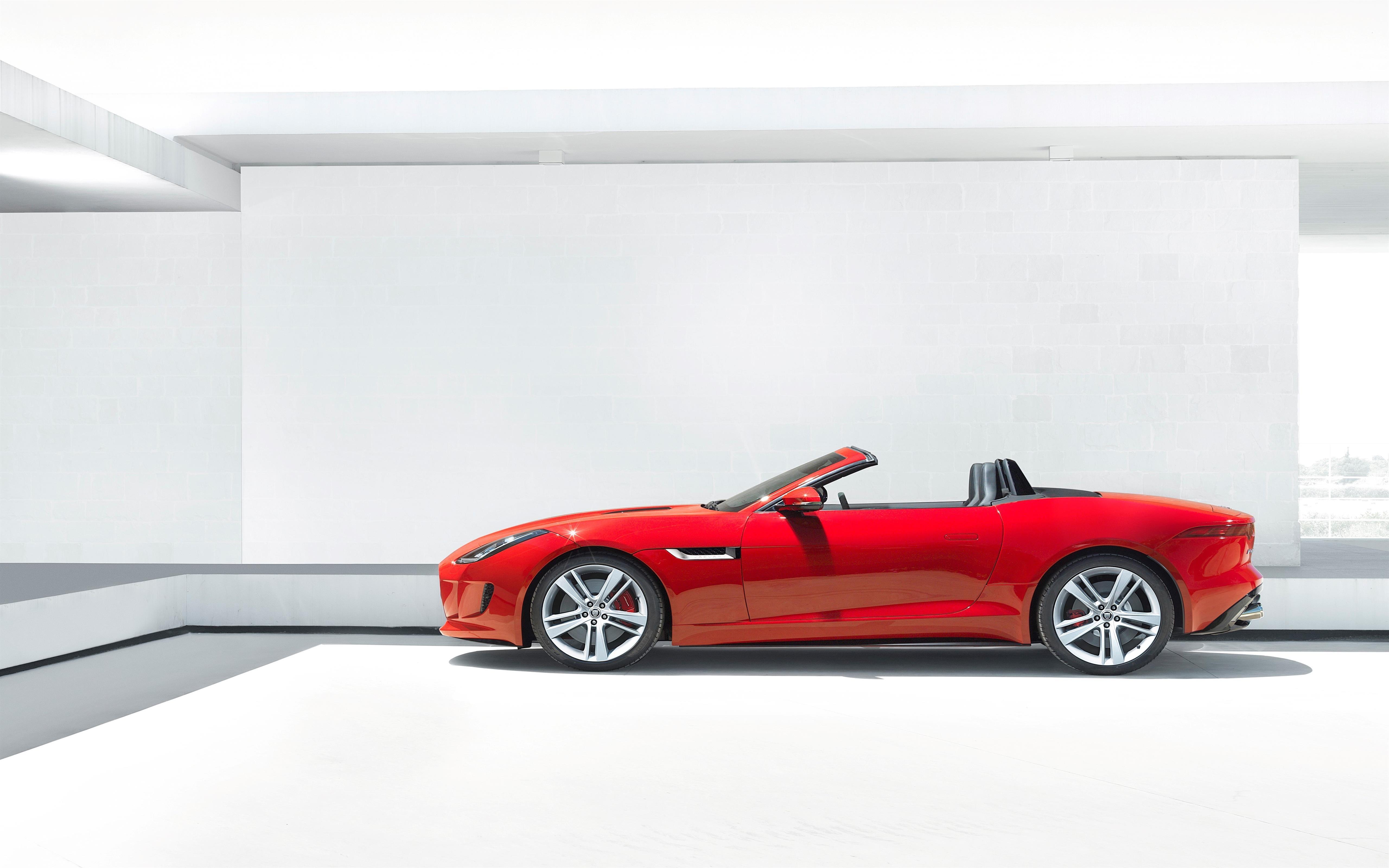 Red Convertible 2 Seater Jaguar Luxury Car Wallpaper 5120x3200