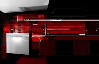 Red Cubic Tech Wallpaper 960x600 340x220