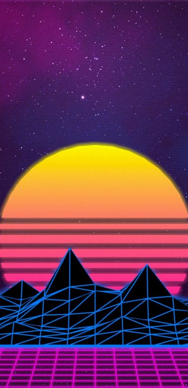 Retrowave Ap Wallpaper 720x1480 380x781