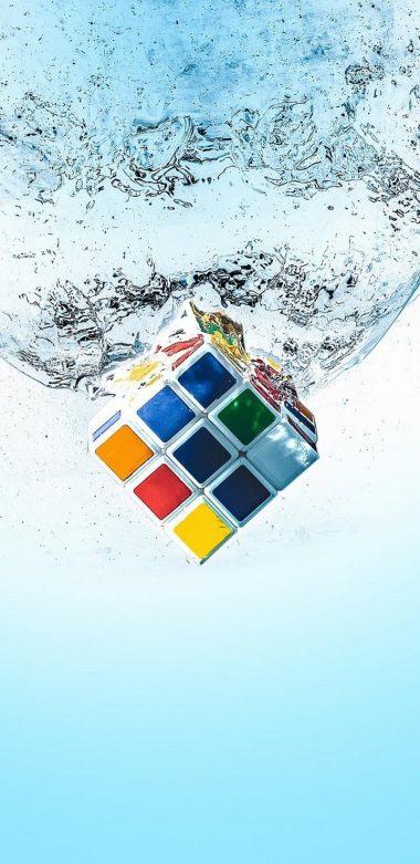 Rubiks Cube Splash Qu Wallpaper 720x1480 380x781