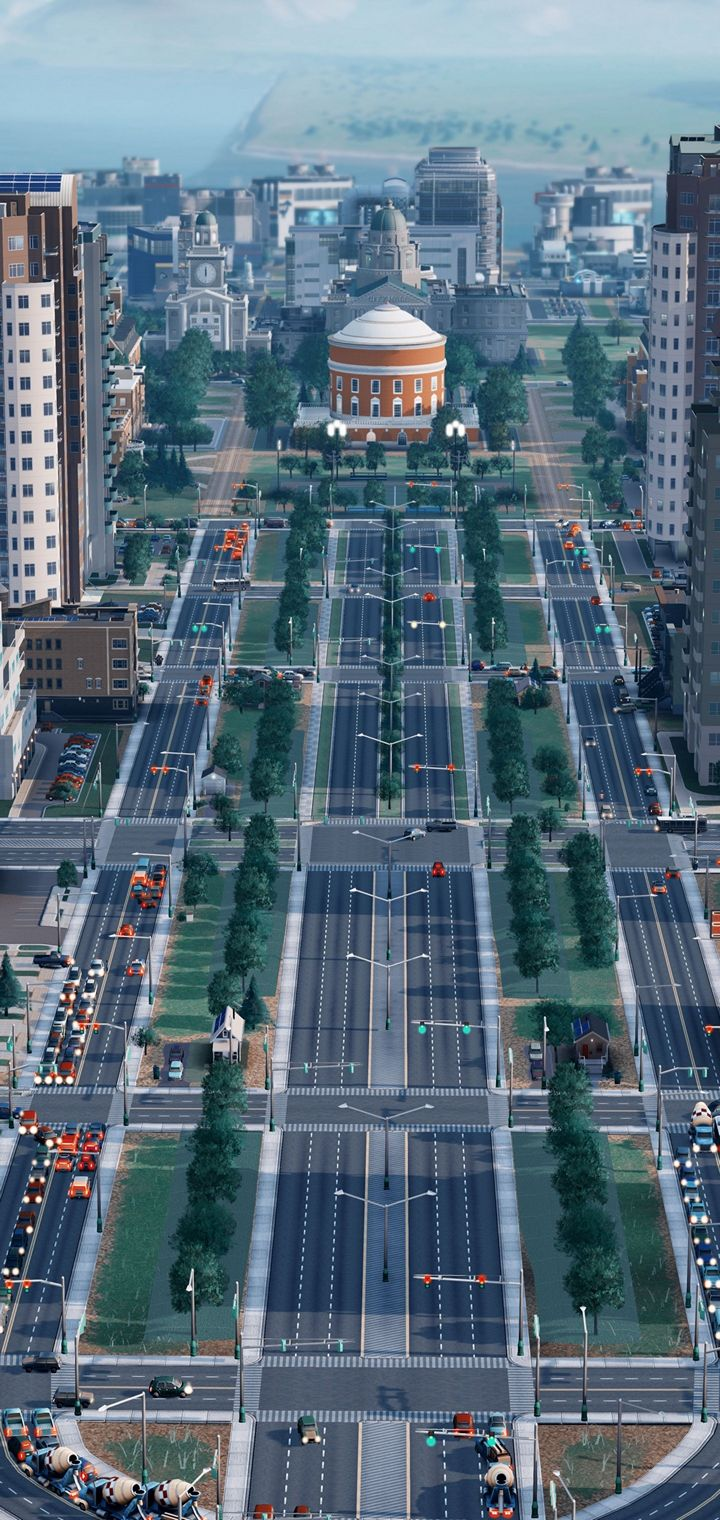 SIMCITY Construction Simulation Wallpaper 720x1520
