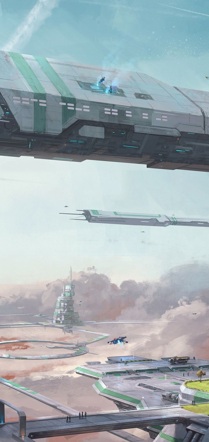 STAR CITIZEN Sci Fi Spaceship Wallpaper 720x1520