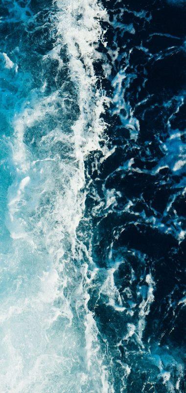 Sea Foam Surf Wallpaper 720x1520 380x802