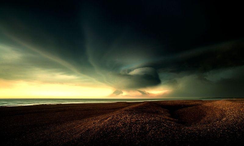 Sea Storm Wallpaper 800x480