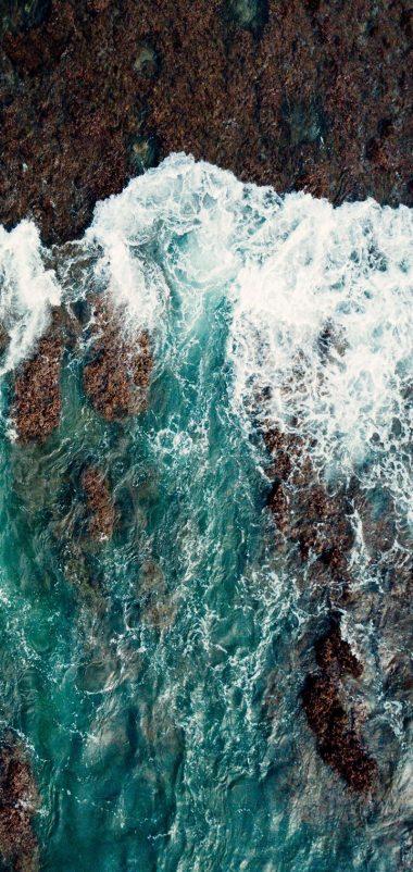 Sea Surf Shore Wallpaper 720x1520 380x802