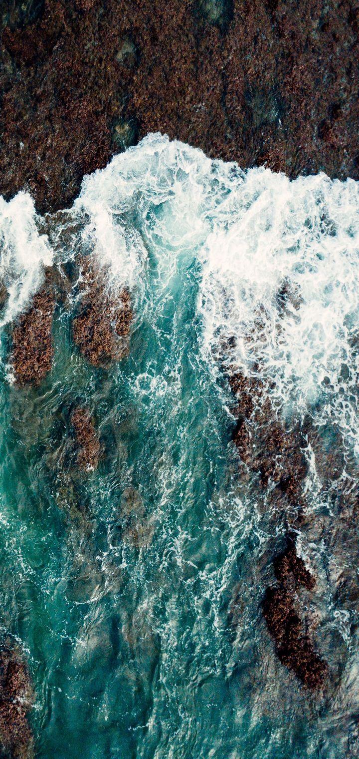 Sea Surf Shore Wallpaper 720x1520