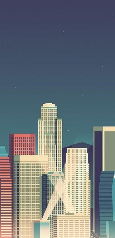 Skycrapper Minimalism Wallpaper 720x1480 380x781
