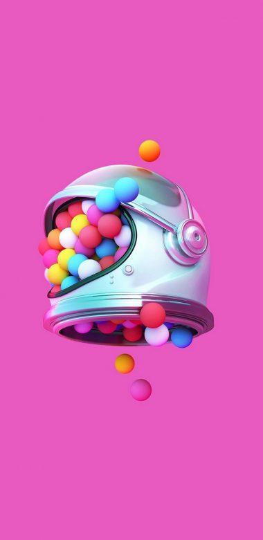 Space Helmet Buubles New Wallpaper 720x1480 380x781