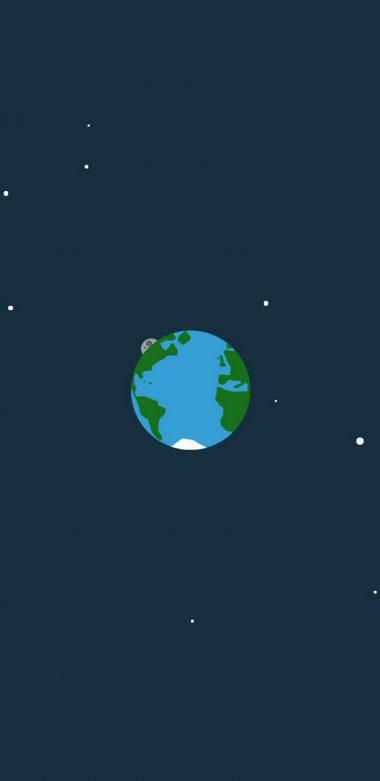 Space Minimalism Hd Wallpaper 720x1480 380x781