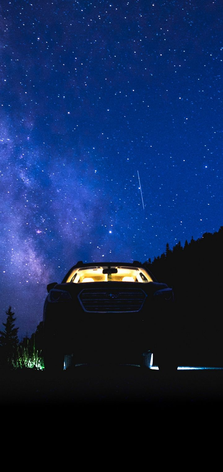 Starry Sky Night Car Wallpaper 720x1520
