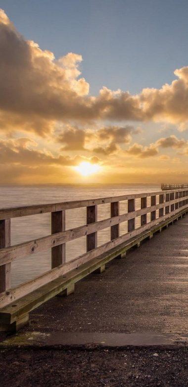 Sunrise At Dock Po Wallpaper 720x1480 380x781
