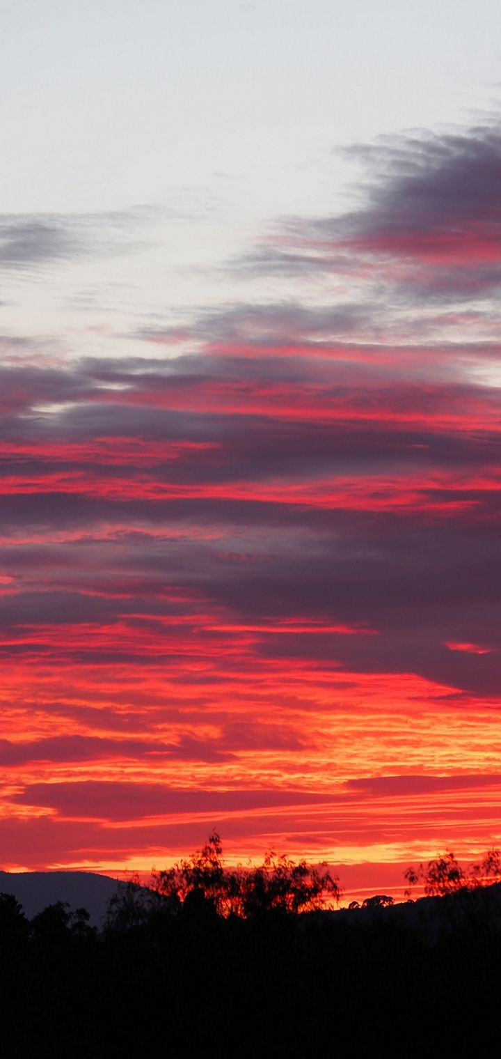 Sunset Sky Clouds Wallpaper 720x1520
