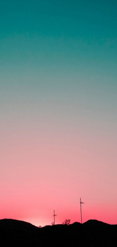 Sunset Sky Hills Wallpaper 720x1520