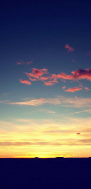 Sunset Sky Wallpaper 1080x2248 380x791