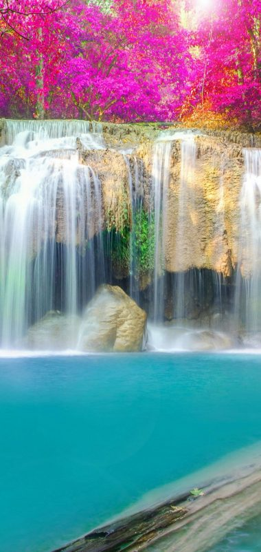 Thailand Parks Waterfalls Erawan Waterfall Wallpaper 720x1520 380x802