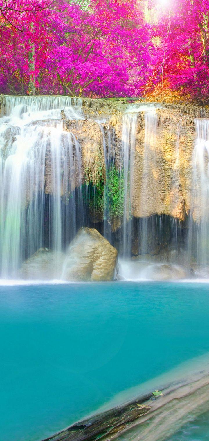Thailand Parks Waterfalls Erawan Waterfall Wallpaper 720x1520