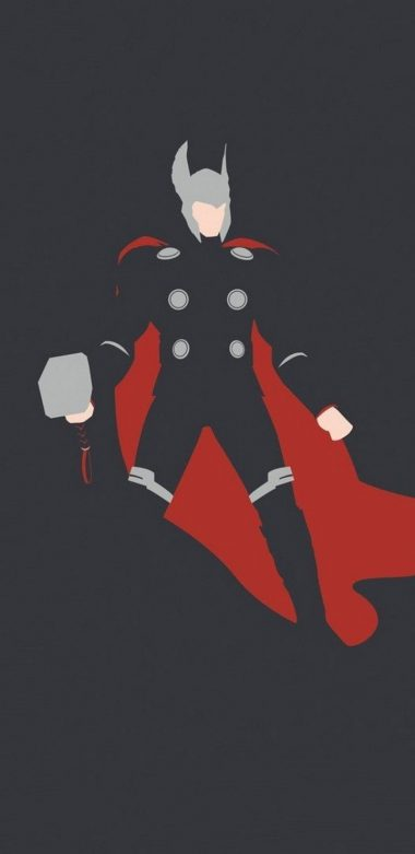 Thor Minimalism Hd Ft Wallpaper 720x1480 380x781
