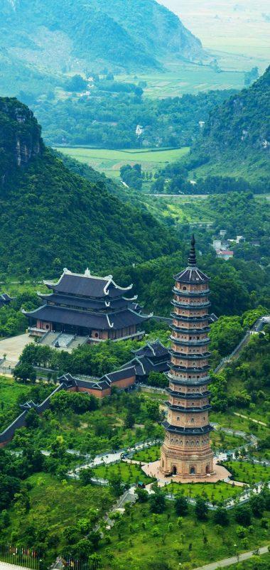Trang An Bai Dinh Landscape Top View Wallpaper 720x1520 380x802
