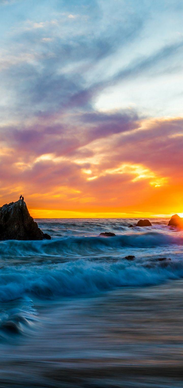 USA Coast Sunrises And Sunsets Wallpaper 720x1520