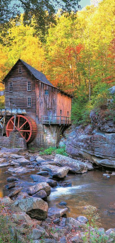 USA Stones Autumn Mill Glade Wallpaper 720x1520 380x802