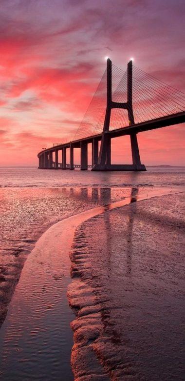 Vasco Da Gama Bridge Image Wallpaper 720x1480 380x781