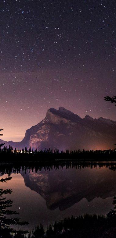 Vermillion Lake Stars Qhd Wallpaper 720x1480 380x781