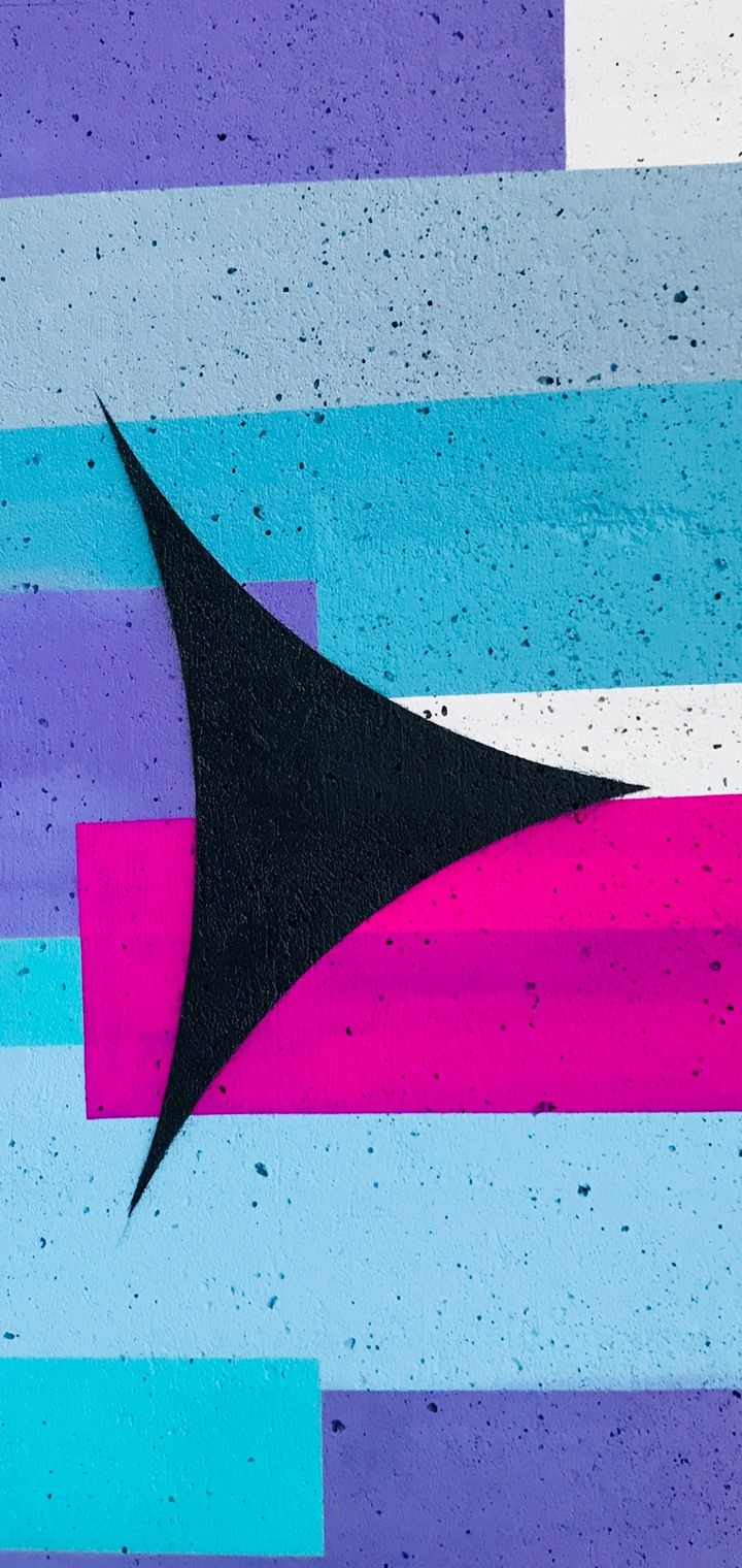 Wall Texture Arrow Paint Wallpaper 720x1520