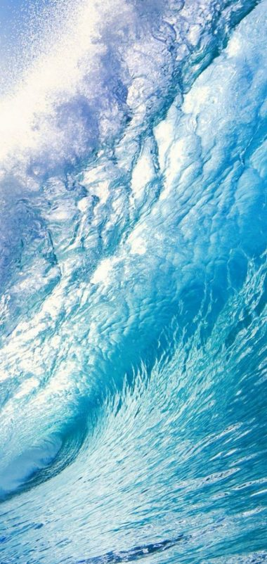 Water Wave Sea Sun Wallpaper 720x1520 380x802