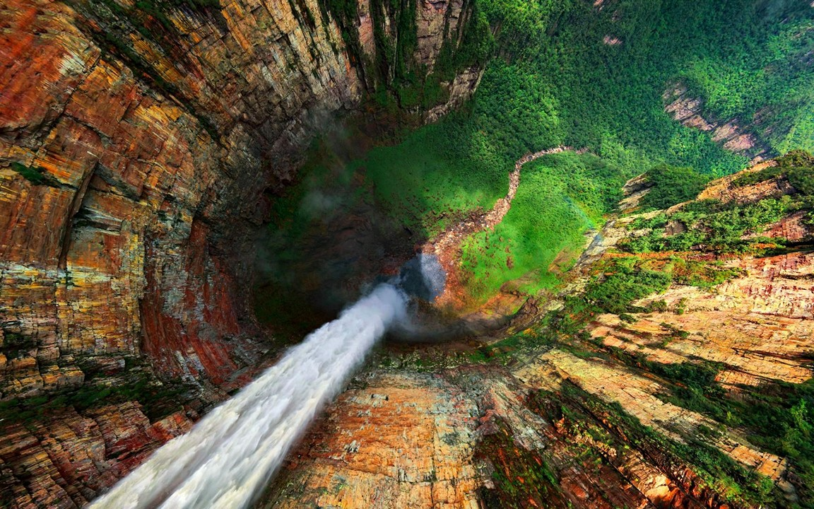 Waterfall Aerial Wallpaper