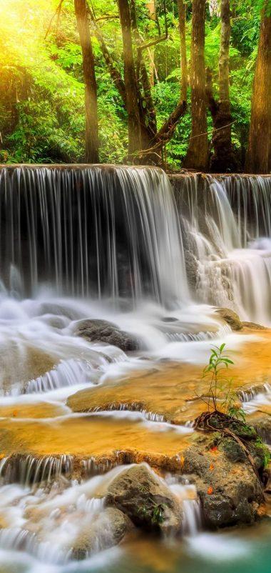 Waterfall River Landscape Nature Waterfalls Wallpaper 720x1520 380x802