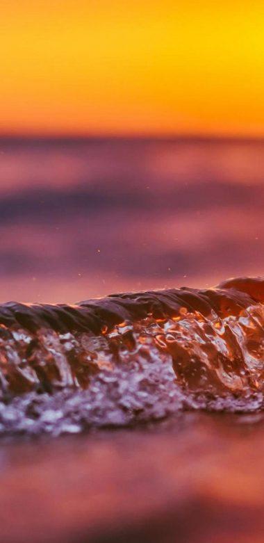 Wave Sunset Wallpaper 720x1480 380x781