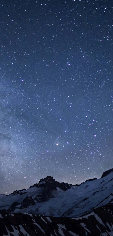 Winter Milky Way Wallpaper 1080x2248 380x791